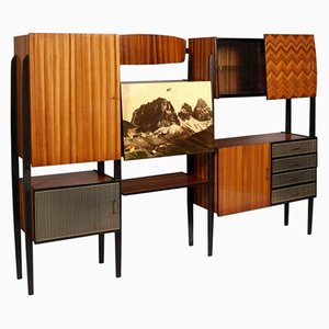Italian Ebonized Walnut Storage Unit, 1950s