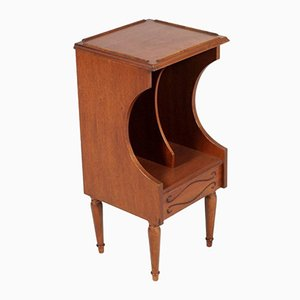 Vintage Walnut Magazine Rack or Nightstand, 1940s