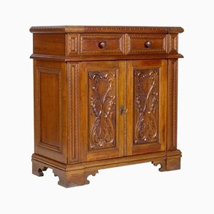 Mid-Century Tuscan Cabinet in Carved Walnut