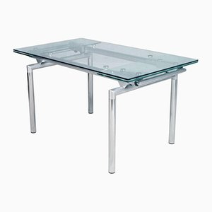 Italian Extendable Chrome & Glass Table, 1960s