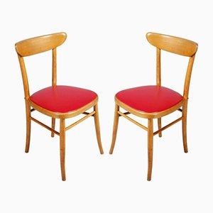 Italienische Modernistische Stühle, 1950er, 2er Set