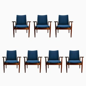 209 Diplomat Armchairs by Finn Juhl for France & Søn, 1960s, Set of 7
