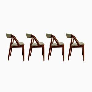 No. 31 Esszimmerstühle von Kai Kristiansen für Schou Andersen, 1960er, 4er Set