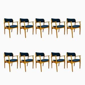 Chaises Modèle 49 Mid-Century par Erik Buch pour O.D. Møbler, 1960s, Set de 10