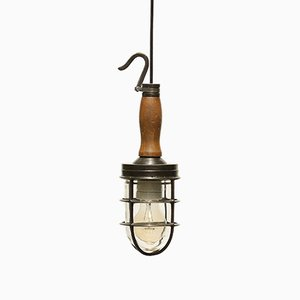 Vintage Portable Lamp in Patinated Brass