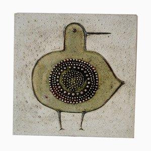 Keramik Teller von Sylvia Leuchovius für Rörstrand, 1958