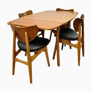 Esstisch und 4 Stühle von G-Plan, 1960er