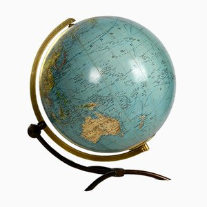 Large Mid-Century Modern Illuminated Glass Globe
