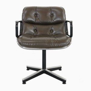 Leather Executive Desk Chair by Charles Pollock for Knoll International, 1963