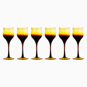 Copas de vino de Zbigniew Horbowy, años 70. Juego de 6
