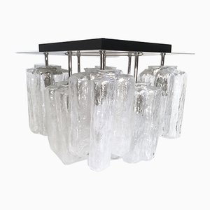 Granada Ice Glass Ceiling Lamp from Kalmar, 1960s