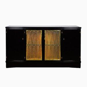 Nussholz Sideboard mit 4 Türen, 1940er