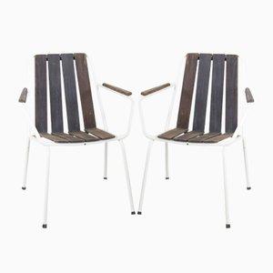 Teak Garden Chairs, 1960s, Set of 2
