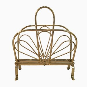 Belgian Brass Magazine Rack, 1970s