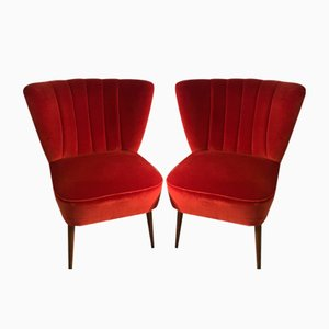 Vintage French Cocktail Chairs, Set of 2