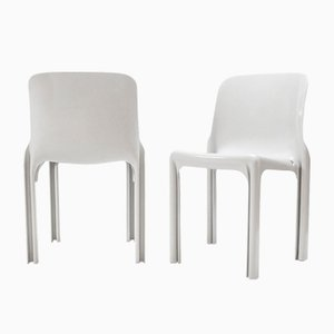 Vintage Sélène Chairs by Vico Magistretti for Artemide, Set of 2