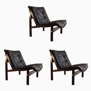 Chaises Hunter Vintage par Torbjørn Afdal pour Bruksbo Norway, Set de 3