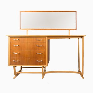 Mid-Century Dressing Table in Teak and Beech