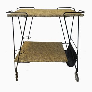 Vintage French Bar Trolley by Mathieu Matégot