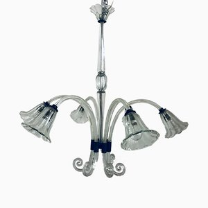 Large Vintage Murano Glass Chandelier by Ercole Barovier