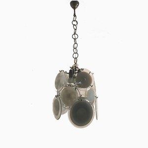 Lámpara de araña Mid-Century con disco de cristal de Murano de Vistosi
