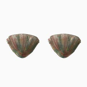 Mid-Century Murano Glas Wandlampen, 2er Set
