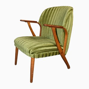 Danish Mid-Century Modern Green Teak Lounge Chair, 1960s