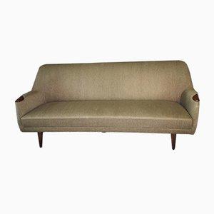 Mid-Century Modern Danish Sofa in Green Wool and Teak, 1960s