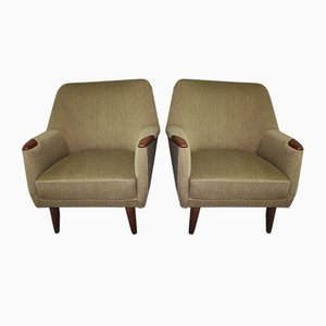 Grüne Sessel, 1960er, 2er Set