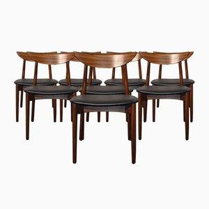 Modell 58 Esszimmerstühle aus Palisander von Harry Østergaard, 1960er, 8er Set