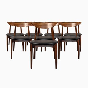 Rosewood Model 58 Dining Chairs by Harry Østergaard, 1960s, Set of 8