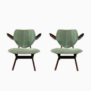 Vintage Pelican Chairs by Louis van Teeffelen for AWA, Set of 2