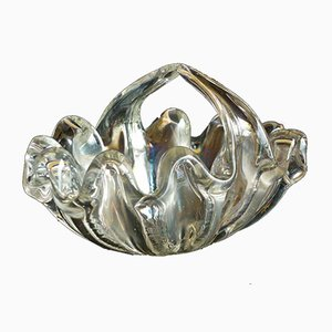 Murano Glass Shell-Shaped Bowl by Ercole Barovier, 1940s