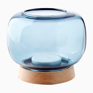 Maxi Blue Hurricane Candleholder by Anders Nørgaard for Applicata