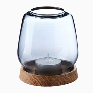 Large Blue Hurricane Candleholder by Anders Nørgaard for Applicata