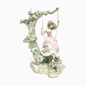 Porcelain Swinging Figure by Salvador Debón for Lladró, 1970s