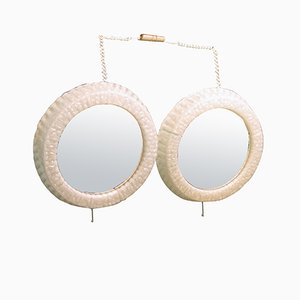 Acrylic Illuminated Mirrors, 1970s, Set of 2