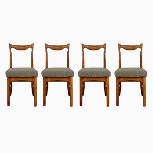 Vintage Eichenholz Stühle von Guillerme et Chambron, 4er Set