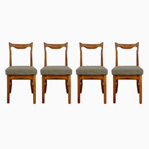 Vintage Oak Chairs by Guillerme et Chambron, Set of 4