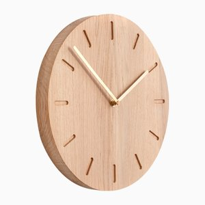 Oak Watch:Out Clock with Brass Hands from Applicata