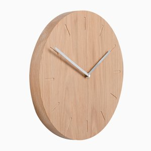 Oak Watch:Out Clock with Steel Hands from Applicata