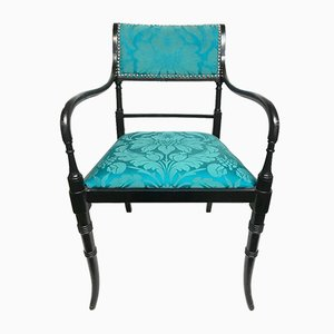 Vintage Armchair with Silk Upholstery