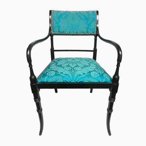 Vintage Armlehnstuhl mit Bezug aus Seide