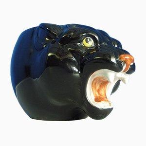 Italienischer Keramik Panther Blumentopf, 1960er
