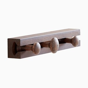 3 Hook Smoked Oak Track Coat Rack by Anders Nørgaard for Applicata