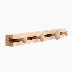 4 Hook Oak Track Coat Rack by Anders Nørgaard for Applicata