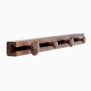 4 Hook Smoked Oak Track Coat Rack by Anders Nørgaard for Applicata