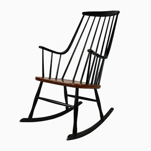 Scandinavian Rocking Chair by Lena Larsson for Nesto, 1958