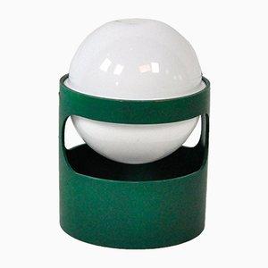 Lampada da tavolo in plastica verde di Joe Colombo per Husqvarna, 1967