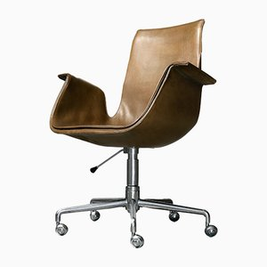 Model FK 6725 Swivel Chair by Preben Fabricius & Jørgen Kastholm for Kill International, 1960s